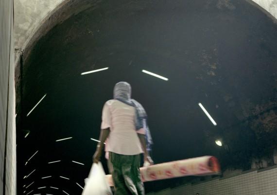 Marseille, Quartier de la Belle de Mai, Photographie Pauline Daniel, tunnel pour accéder au quartier
