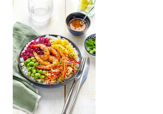 Bouddha Bowl, Photographie culinaire Pauline Daniel pour Florette Food service, stylisme culinaire Pauline Daniel
