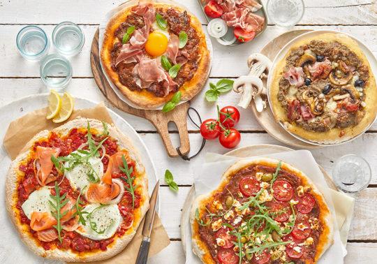 Pizzas party, Photographie culinaire Pauline Daniel pour Jean Martin, stylisme culinaire Annelyse Chardon