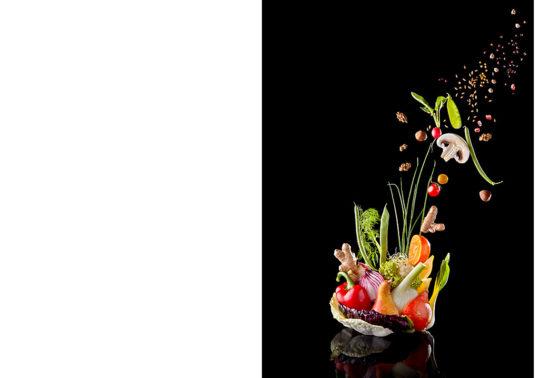 Création culiniare, Photographie culinaire Pauline Daniel pour la couverture du magazine néorestauration, stylisme culinaire Pauline Daniel