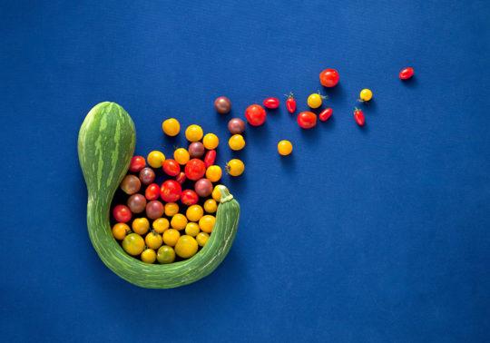 Création culinaire, envolée de légumes, Photographie culinaire Pauline Daniel pour Bouches du Rhone tourisme, stylisme culinaire Pauline Daniel